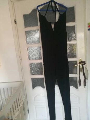 Czarny elegancki kombinezon rozmiar 42-44