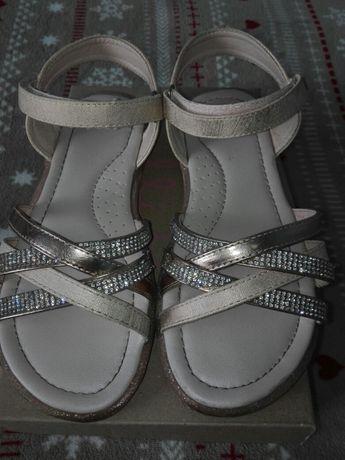 Sandałki sandały dziewczęce nelli blu roz 33 błyszczące j.nowe