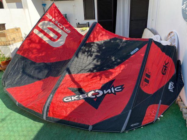 kite de 11 metros (kite, barra e saco)