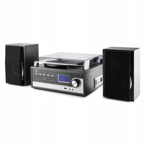 Wieża stereo gramofon F3395 Auna Blackwood