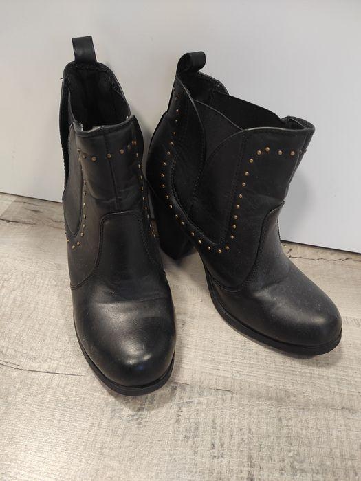 buty botki rozm 38 obcas 9 cm Chełmek - image 1