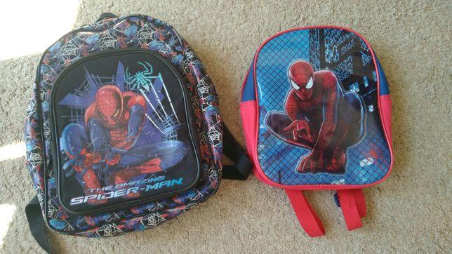 Dwa plecaki Spiderman