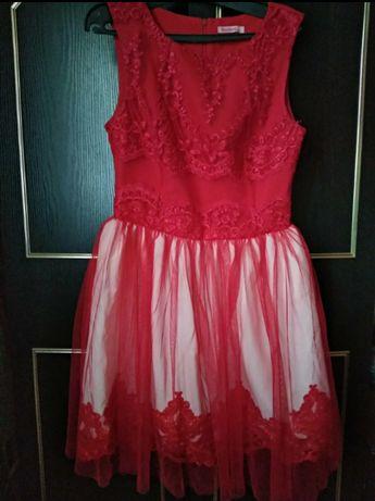 Czerwona sukienka w idealnym stanie
