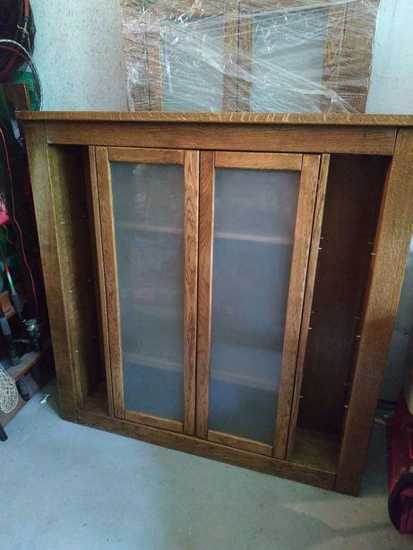 Szafka łazienkowa wisząca lite drewno dąb 117cm x 119cm NOWA