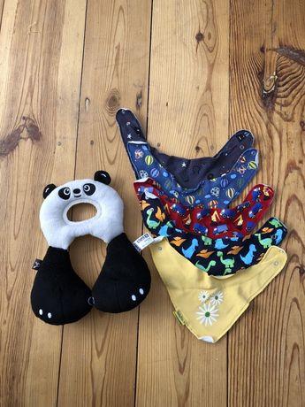 Zestaw dzieciecy chlopiecy zaglowek travel friends panda chusty