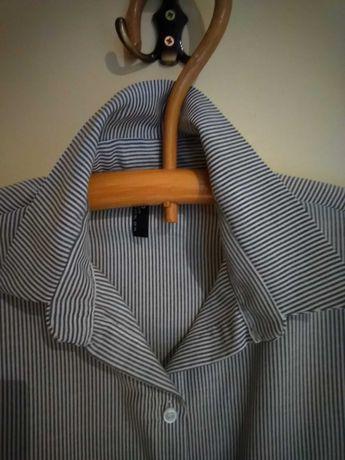 Koszula paski szare 42