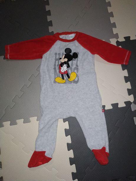 Pajac polarowy kombinezon Disney r. 74 / 9m + bluza 80