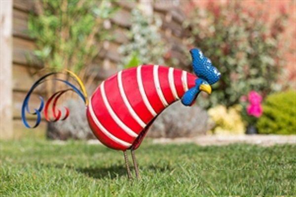 Kogut, Lis, Sowa, lub Żaba w paski figurki dekoracjyne do ogrodu i dom