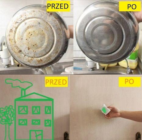 Magiczna gąbka do usuwania trudnych plam/ czyszczenia bez detergentów