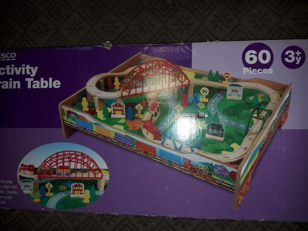 Tory drewniane zabawka dla dzieci ciuchcia 60 el. Pociag.