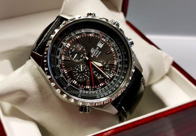 Zegarek Casio Edifice Momentum Chronograf 100 m 43 mm logarytmiczny