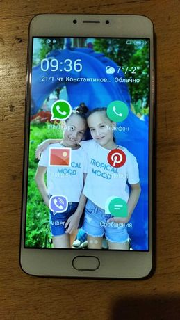 Смартфон Meizu m3 note Gold
