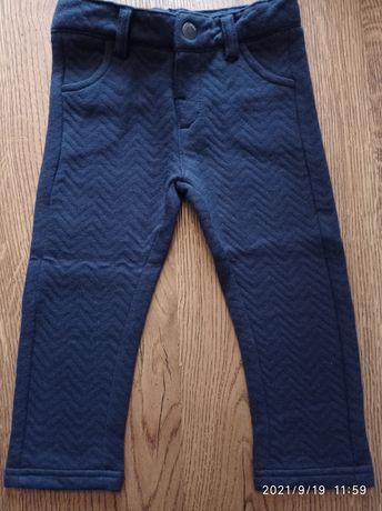 Spodnie granatowe miękkie eleganckie tape a l'oeil 80 idealne jak nowe
