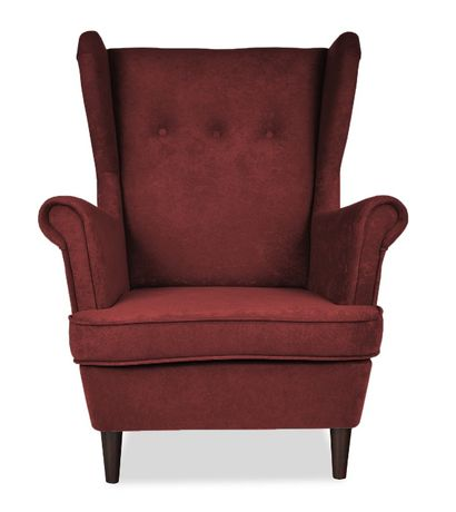 Fotel Uszatek wiśnia, bordo, karmazynowy. Szybka wysyłka. 130 kolorów