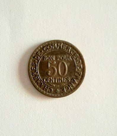 Moeda rara de 50 centimes 1926