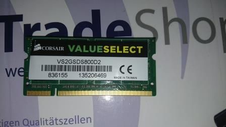 Memória RAM DDR2 CORSAIR VS2GSDS800D2 - 1 x 2 GB - 800 MHz- Verde