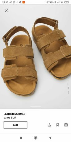Zara босоніжки босоножки сандалі сандалі дитячі шкіра шкіряні оригінал