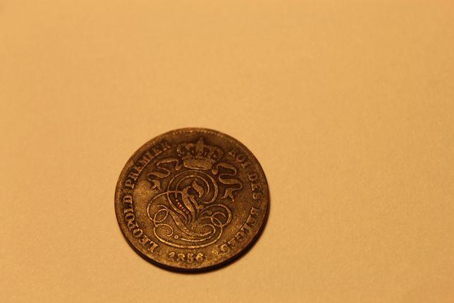 Moneta Belgia 2 centymy 1856