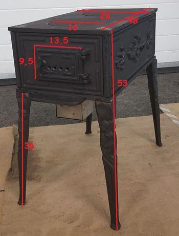 Piec Piecyk Cyganek koza 7kw żeliwny duży kominek