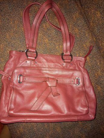 Фирменная кожаная сумка