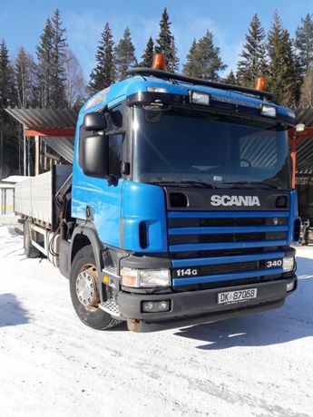 Scania P114 Hiab 12ton/M Sterowanie Radiowe  Pierwszy Własciciel