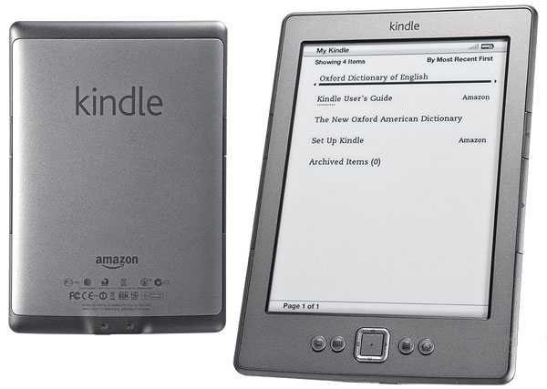 "Электронная книга Amazon Kindle 4 gen, Wi-Fi, 6"" E-Ink, D01100"