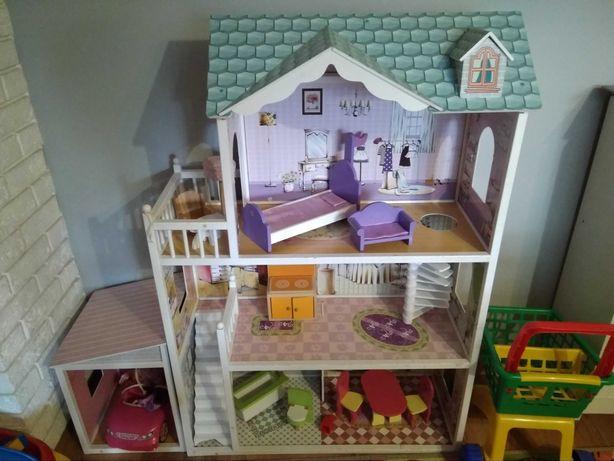 Domek drewniany dla lalek Barbie