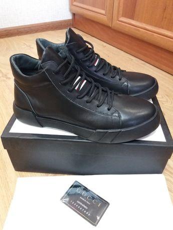Gucci 42 43 44 ботинки мужские кожаные Гуччи купить в Украине