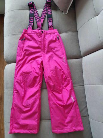Spodnie narciarskie BRUGI r.122, ciemny róż