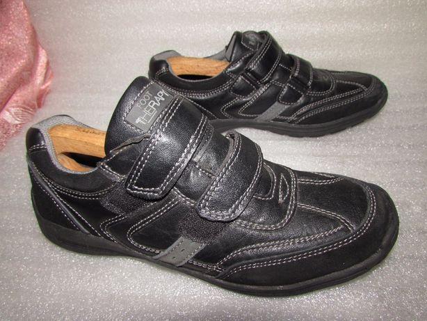 Foot therapy ~кожаные прочные мужские кроссовки р 43