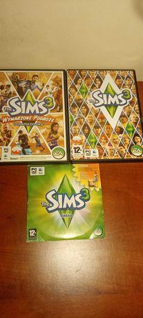 3 płyty z grami sims