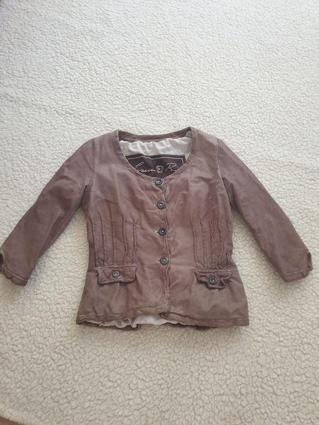 Куртка, жакет, пиджак, натуральная кожа, made in Italy, Vera Pelle
