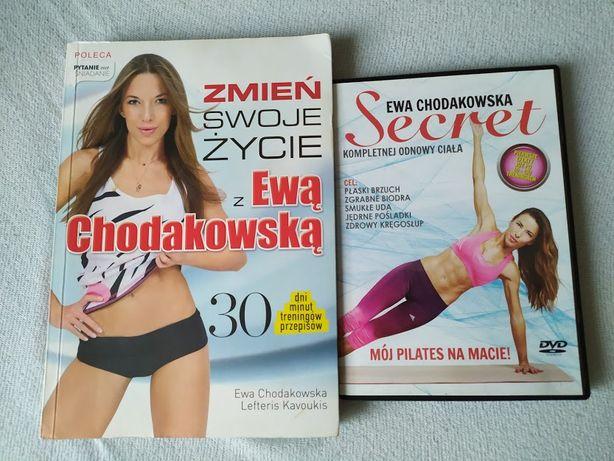 """Książka """"Zmień swoje życie z Ewą Chodakowska"""" plus płyta DVD """"Secret"""""""