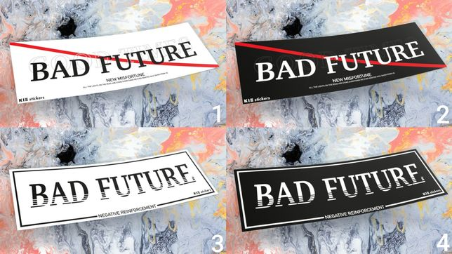 Naklejki BAD FUTURE wlepki nalepki drift slap jdm japan bmw nissan mx5