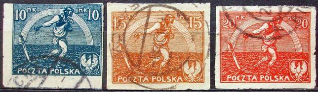 Znaczki polskie Fi 125-127