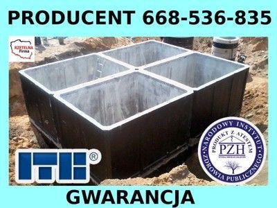 Szamba szambo betonowe zbiorniki -producent poj.2,4,5,6,8,10,12m3Atest