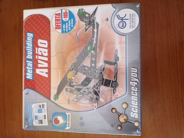 Brinquedo Science4You - Metal Building Avião [NOVO]