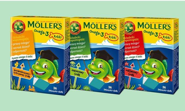 Рыбий жир для детей и взрослых Mollers Omega 3