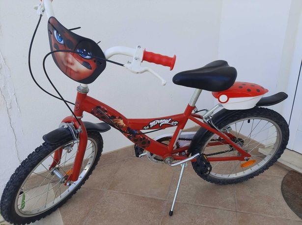 Bicicleta para criança menina Lady Bug roda 20
