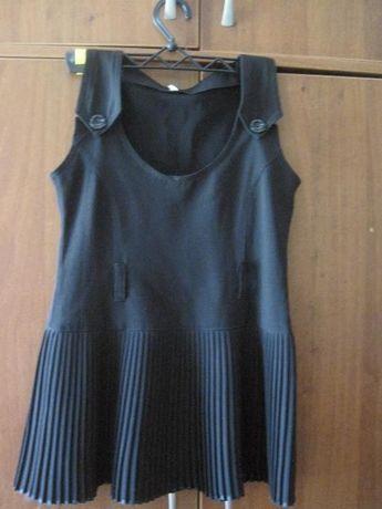 Сарафан, школьная форма на девочку 8-9 лет, 3-4 класс, черный цвет