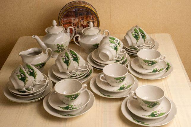 Чайный сервиз,12 персон, Рига, СССР, новый