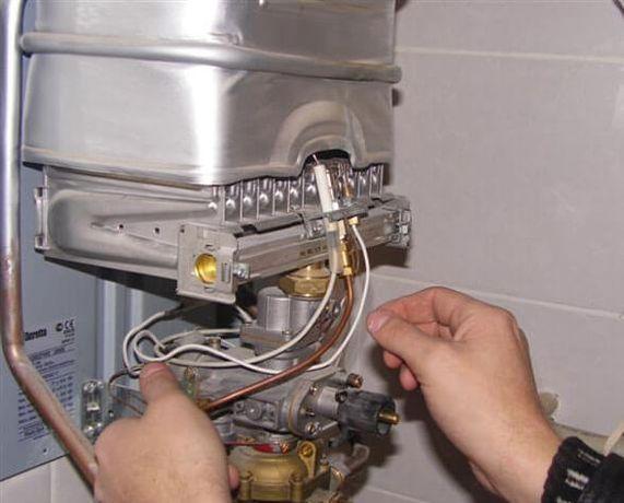 ремонт газових колонок котлів газових плит