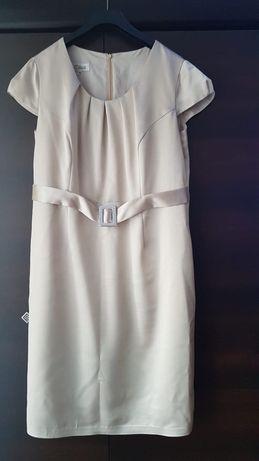 Kremowa sukienka, roz. 48