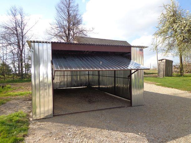 Garaż blaszany 4x5 z bramą uchylną ocynk Dostawa Montaż kujaw-pomor
