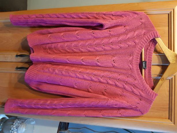 Różowy sweter damski