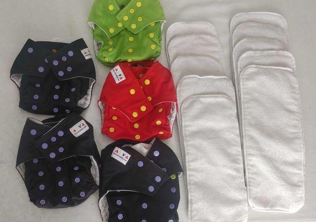 Fraldas reutilizáveis Alva Baby | Série C de bolso - ecológicas