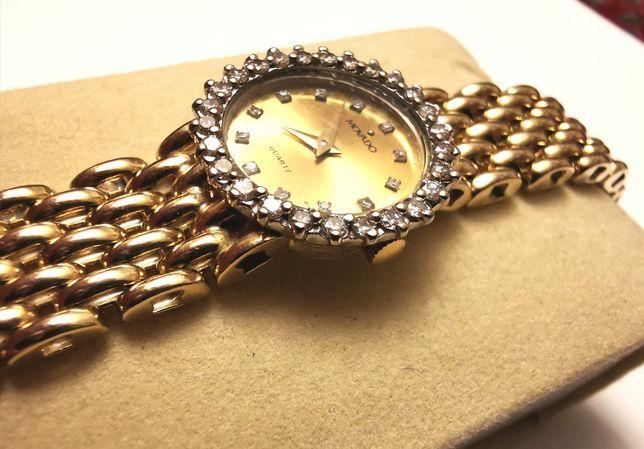 Złoto 14K, Damski zegarek, 39,5 gr., dł. 18cm,Piekny złota bransoleta