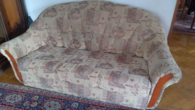 Sofa 3 osobowa, rozkladana i 2 fotele