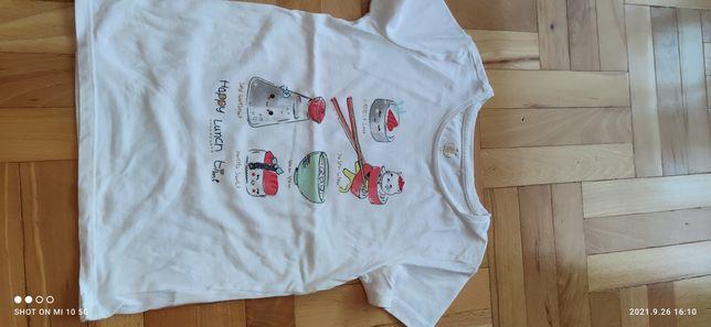 Biały t-shirt firmy COOL CLUB, rozmiar 128