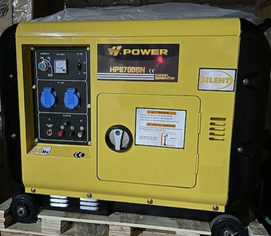 Дизельный генератор  в кожухе HP6700SN